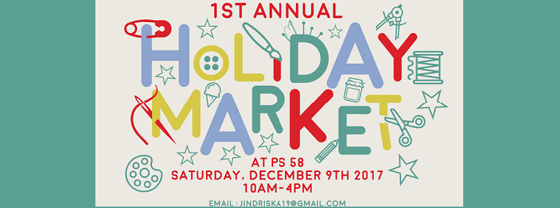 PS 58 Holiday Market Poster