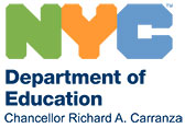 NYC Department of Education logo and website link