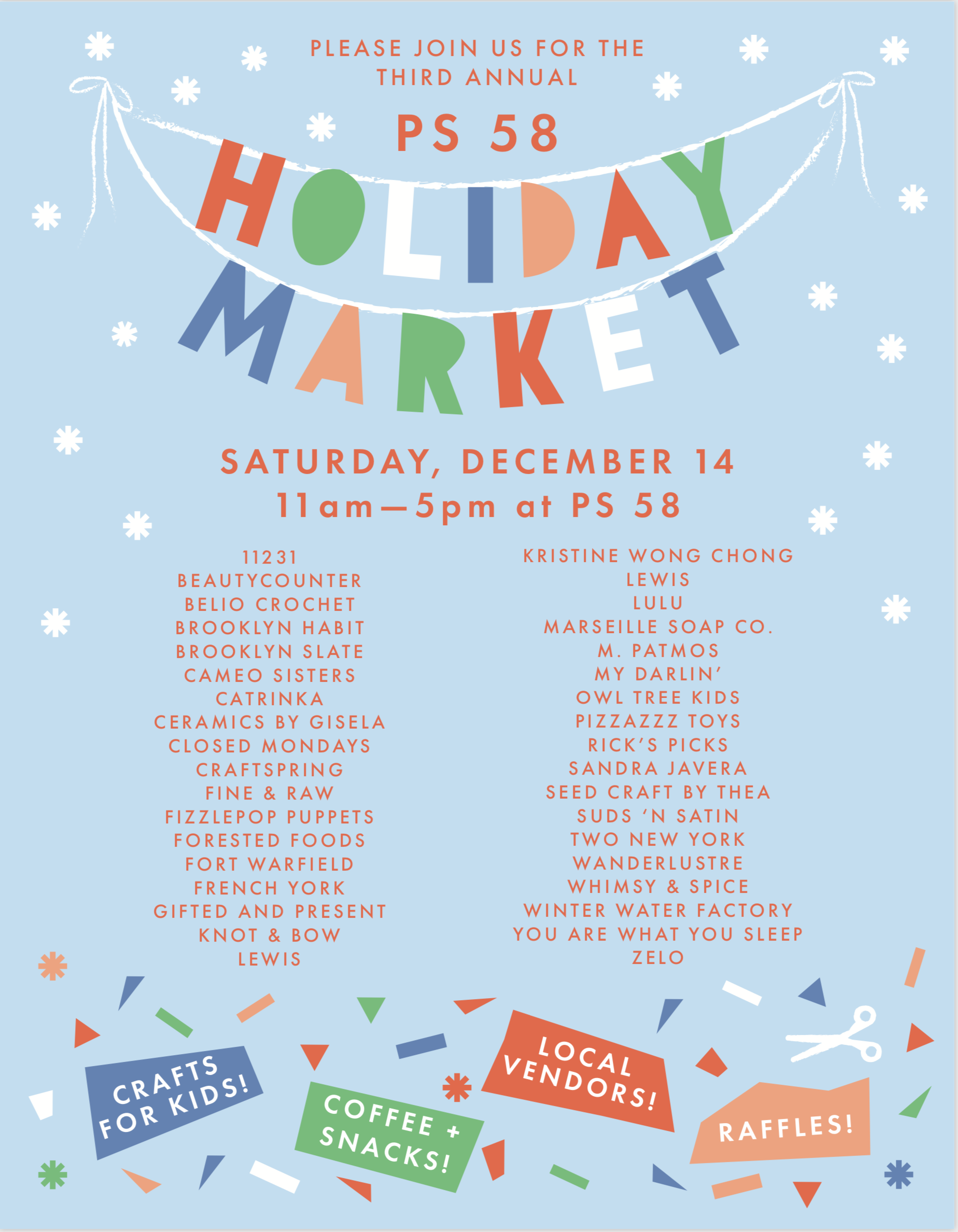 2019 Holiday Market Graphic